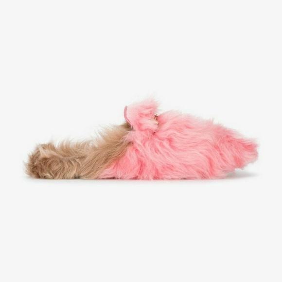 c0399656d Gucci Shoes | Nib Pink Lamb Fur Princetown Loafers | Poshmark